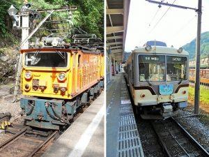 トロッコ電車と地鉄電車