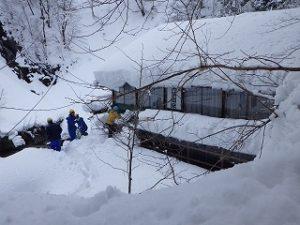 黒薙温泉旅館除雪作業