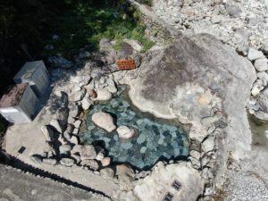 清掃後の大露天風呂