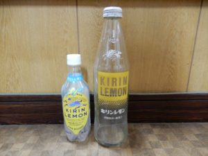 ビンとペットボトルのキリンレモン