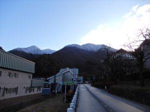 宇奈月温泉街からの景色