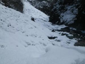 雪で埋まってしまった大露天風呂