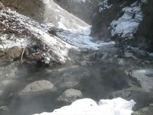 温泉を入れた大露天風呂