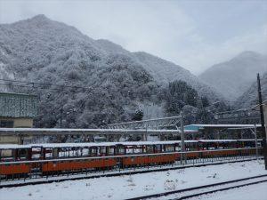 宇奈月の雪景色