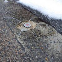 散水の融雪装置